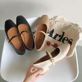 日系軟妹可愛淺口單鞋女2019夏森系方頭娃娃鞋一字扣平底瑪麗珍鞋 米娜小鋪