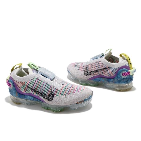 Nike 慢跑鞋 Air Vapormax 2020 FK GS 灰 彩色 女鞋 大氣墊 再生材質材質 環保理念 【ACS】 CJ4069-003