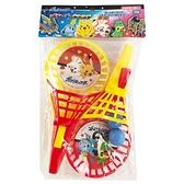 小禮堂 寶可夢 皮卡丘 球拍玩具2入組 (紅色款) 4971413-01736