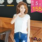 上衣-Tirlo-透涼造型口袋圓領杉-3...