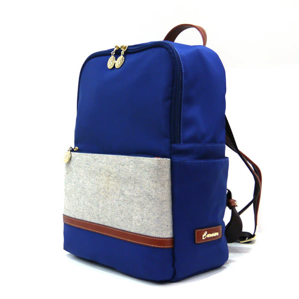 【CUMAR女包】異材質尼龍拼布輕量後背包-藍
