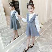童裝2019秋裝新款3女童洋氣連衣裙4小女孩5公主裙子裝8歲潮YJ1556【雅居屋】