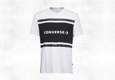 CONVERSE Colorblock SS Tee 白色短袖T恤 男-NO.10017458-A01