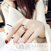 食指鈦鋼戒指女不掉色日韓玫瑰金潮人網紅學生個性大氣時尚指環女  萬聖節狂歡