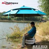 釣魚傘2.2/2.4米萬向雙層戶外防曬紫外線防風雨太陽垂釣超輕漁具 igo 遇見生活