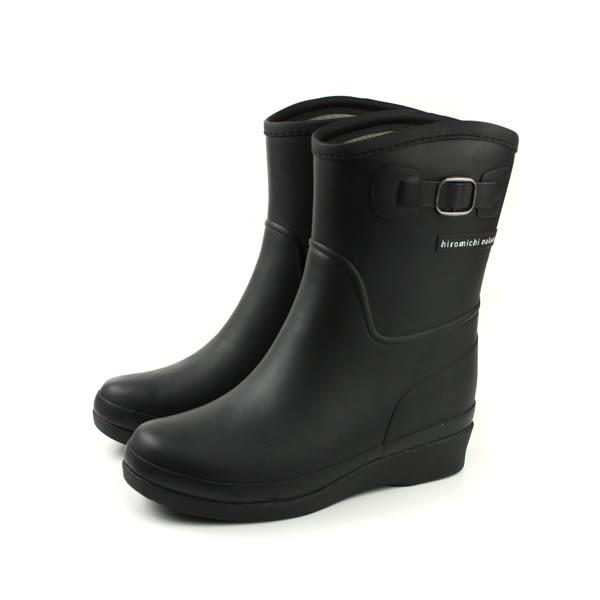 Hiromichi Nakano 雨鞋 雨靴 內增高 中筒 霧面 黑色 女鞋 HIWL149R6 no097