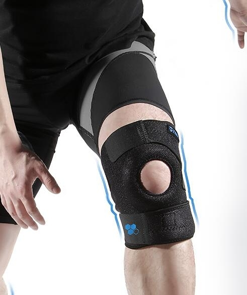 運動男跑步專業膝蓋護具