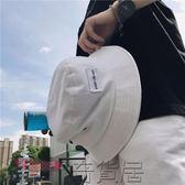 韓版男士百搭時尚漁夫帽簡約貼標