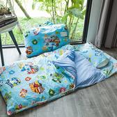 睡袋 / 兒童標準【波力救援小英雄藍】標準幼教款 高密度磨毛布 戀家小舖台灣製ABF088