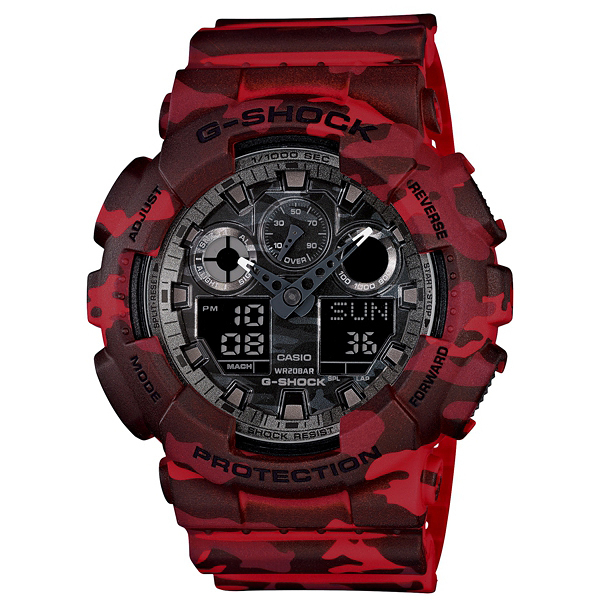 CASIO 卡西歐 G-SHOCK 迷彩控 GA-100CM-4A 手錶