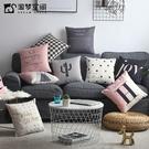 北歐風簡約棉麻抱枕靠枕客廳沙發椅子靠墊床頭靠背墊抱枕xw