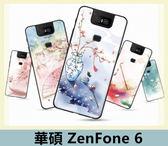 華碩 ASUS ZenFone 6 (ZS630KL) 清新風手機殼 TPU軟殼 彩繪風 中國古風 超薄 全包 矽膠套 手機殼