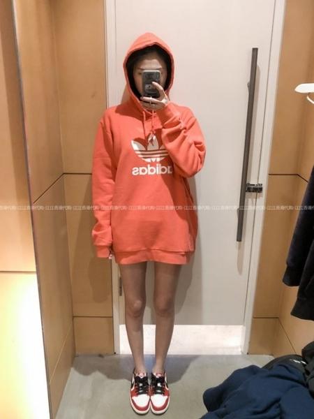 adidas Originals 愛迪達 三葉草 橘紅 帽T 連帽T桖 大學T 棉T 長袖T桖 cx1899/澤米