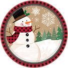 聖誕 餐具 10.5吋圓盤8入-雪人