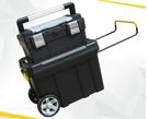 【麗室衛浴】雙層大輪子移動拉桿工具箱 多功能釣魚工具箱 五金零件工具車