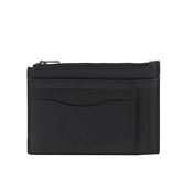 【COACH】皮革零錢包/卡夾(黑色)  F66550 QBBK