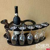 木制酒架紅酒架歐式葡萄實木酒架酒杯架倒掛酒柜擺件一次元