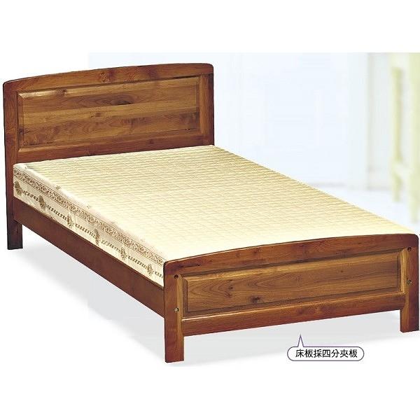 床架 床台 FB-570-2 樟木色3.5尺單人床 (不含床墊) 【大眾家居舘】