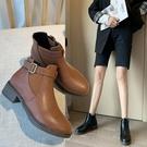 早秋馬丁靴女英倫風薄款網紅靴子女2020秋款百搭小個子切爾西短靴 小山好物