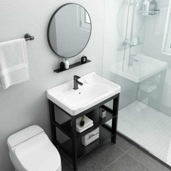 浴櫃 浴室櫃組合落地式衛生間洗漱台小戶型一體洗手台面盆池廁所洗臉盆【幸福小屋】