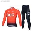 騎行服新款車隊版ccc騎行服長袖男套裝夏季山地公路自行車服速乾單車服 快速出貨