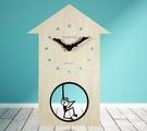 時鐘 墻壁搖擺 兒童房卡通裝飾