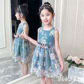 女童連身裙夏裝兒童2019新款超洋氣裙子夏季薄款小女孩洋裝短裙公主裙LZ2313【甜心小妮童裝】