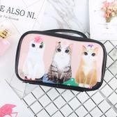 全館79折-化妝包大容量淑女可愛貓咪便攜旅行防水手提小號化妝品收納包