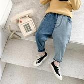 棉小班童裝兒童牛仔褲2019秋裝新款寶寶拼接牛仔長褲男童休閒褲子-ifashion
