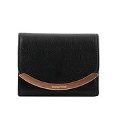 【SEE BY CHLOE】Lizzie 弧形標誌三折零錢袋短夾(黑色) CHS17WP580349001