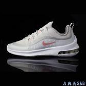 【AIR MAX】NIKE 女慢跑鞋 後跟可見式大氣墊避震性強 鞋面透氣性優 灰白色鞋面+粉色LOGO  【7863】