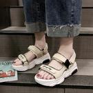 涼鞋 網紅小熊涼鞋女夏仙女風新款新款ins學生百搭鬆糕厚底運動羅馬鞋