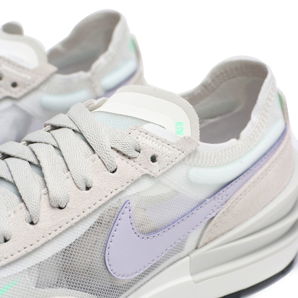 NIKE 休閒鞋 WAFFLE ONE 淺灰紫 小 SACAI 解構 輕量 女 (布魯克林) DC2533-101