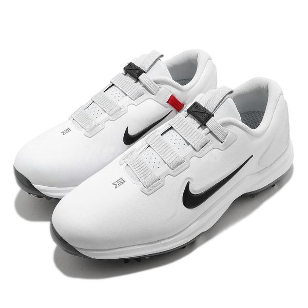Nike 高爾夫球鞋 TW71 Fast Fit Wide 白 黑 寬楦頭 男鞋 老虎 伍茲 皮革鞋面 運動鞋 【ACS】 CD6302-100