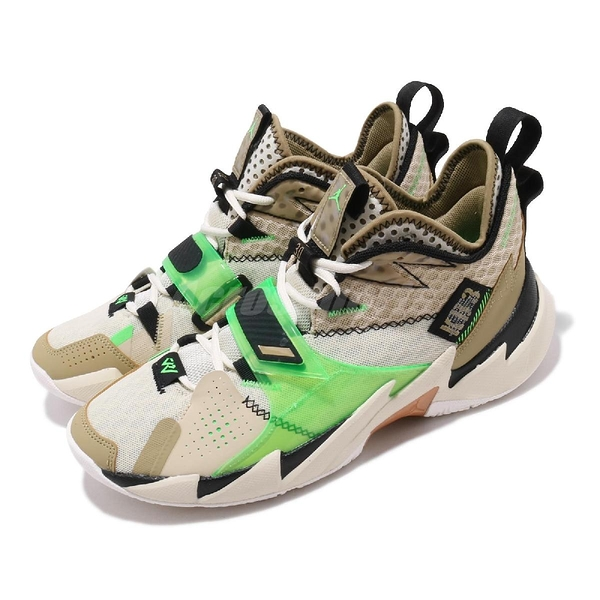 Nike Jordan Why Not Zer0.3 PF KB3 米白 綠 男鞋 籃球鞋 喬丹 Russell Westbrook 【ACS】 CD3002-200