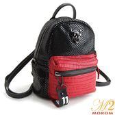 真皮包-MOROM.真皮立體LOGO個性多用後背包(共二色)B52