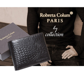 Roberta Colum - 經典鱷魚紋魅力真皮可拆7卡3照短夾-共2色