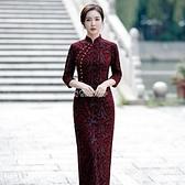 闊太太高檔改良旗袍裙子春新款2021年媽媽裝禮服宴會氣質連衣裙 母親節特惠