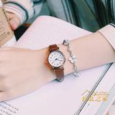 手錶 法國小眾手錶女學生正韓簡約森系ins風百搭學院風復古文藝小表盤