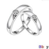 【貝貝】銀戒指 純銀 對戒 時尚 心形 銀戒指 一對 開口 活口