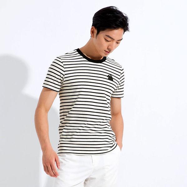 【101原創】台灣製.馬來貘-It s your style細條紋圓領短袖T恤上衣(男)-7604036