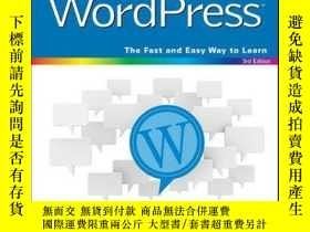 二手書博民逛書店Teach罕見Yourself VISUALLY WordPress, 3rd EditionY410016