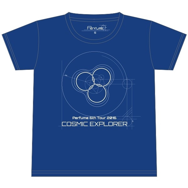 Perfume 6th Tour 2016「COSMIC EXPLORER」- Logo T恤<宇宙藍>