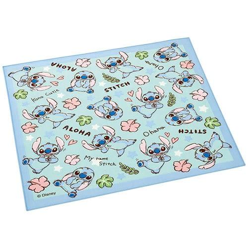 DISNEY 史迪奇手繪圖案棉質餐巾(扶桑花)★funbox★SKATER_AT41406