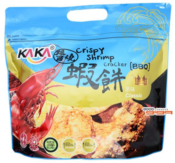 【吉嘉食品】KAKA 醬燒蝦餅(原味) 每包120公克 {4712487361920}[#1]