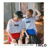 套裝-Tirlo-韓版學院感上衣+運動短褲套裝-四色/兩款