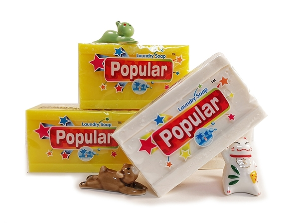 【佳瑞發‧印尼250G泡辣Popular棕梠皂】洗衣皂 去汙皂 萬用皂 家事皂/椰子油皂 檸檬皂。