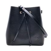 【台中米蘭站】全新品 Louis Vuitton NéoNoé Epi 皮革水桶包(M54366-黑)