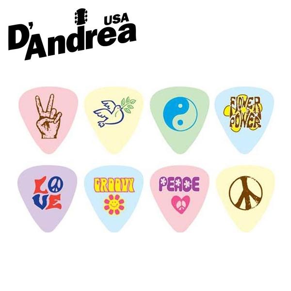 小叮噹的店- PICK 彈片 美國 D Andrea Peace & Love PL 3種規格