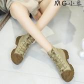 MG 馬丁鞋-短季韓版百搭英倫風馬丁靴